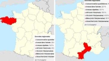 régions de France carte alcool