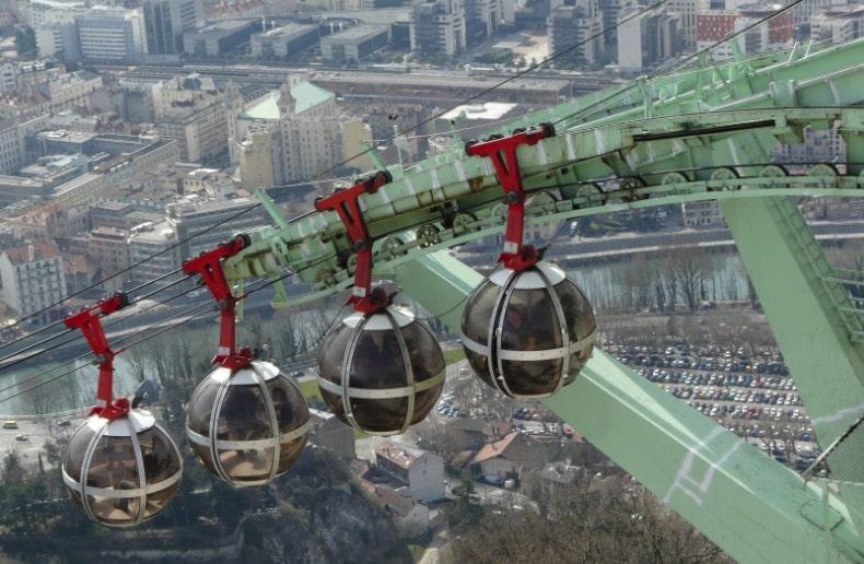 téléphérique Grenoble empreinte carbone transports