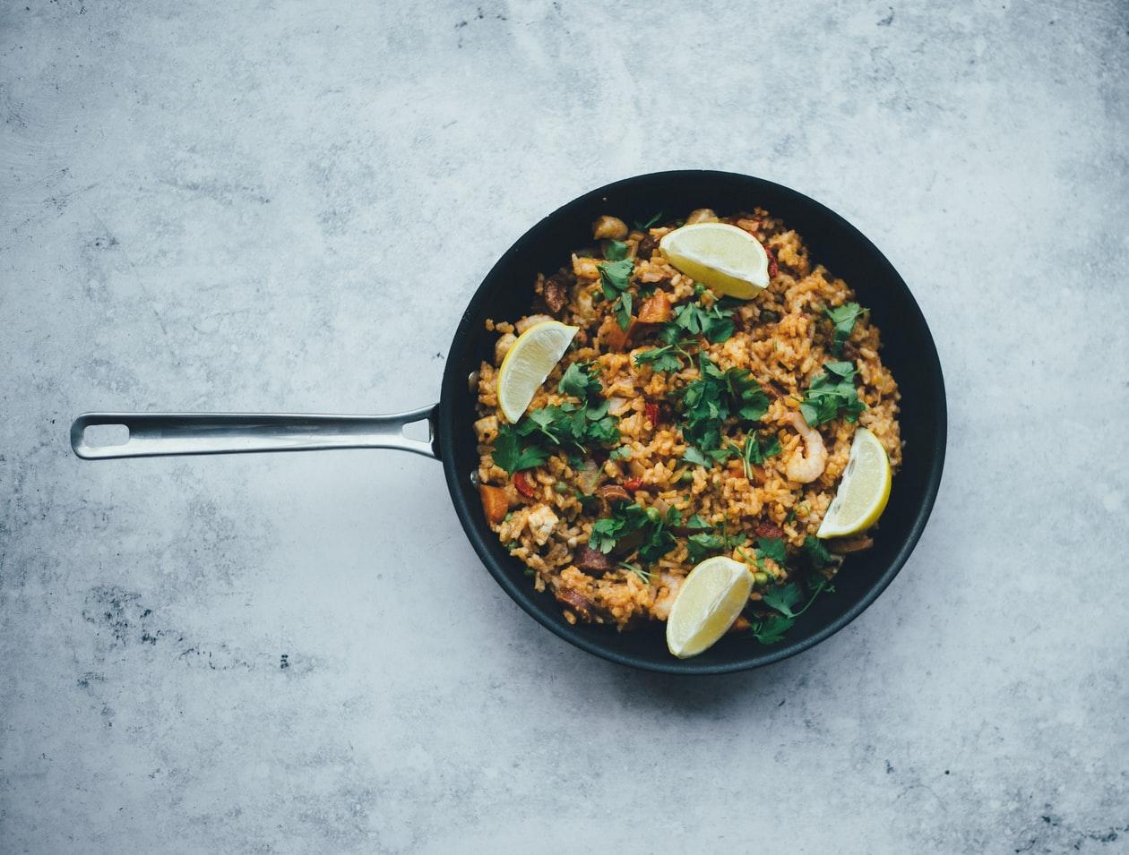 paella revisitée plat spécialité Espagne
