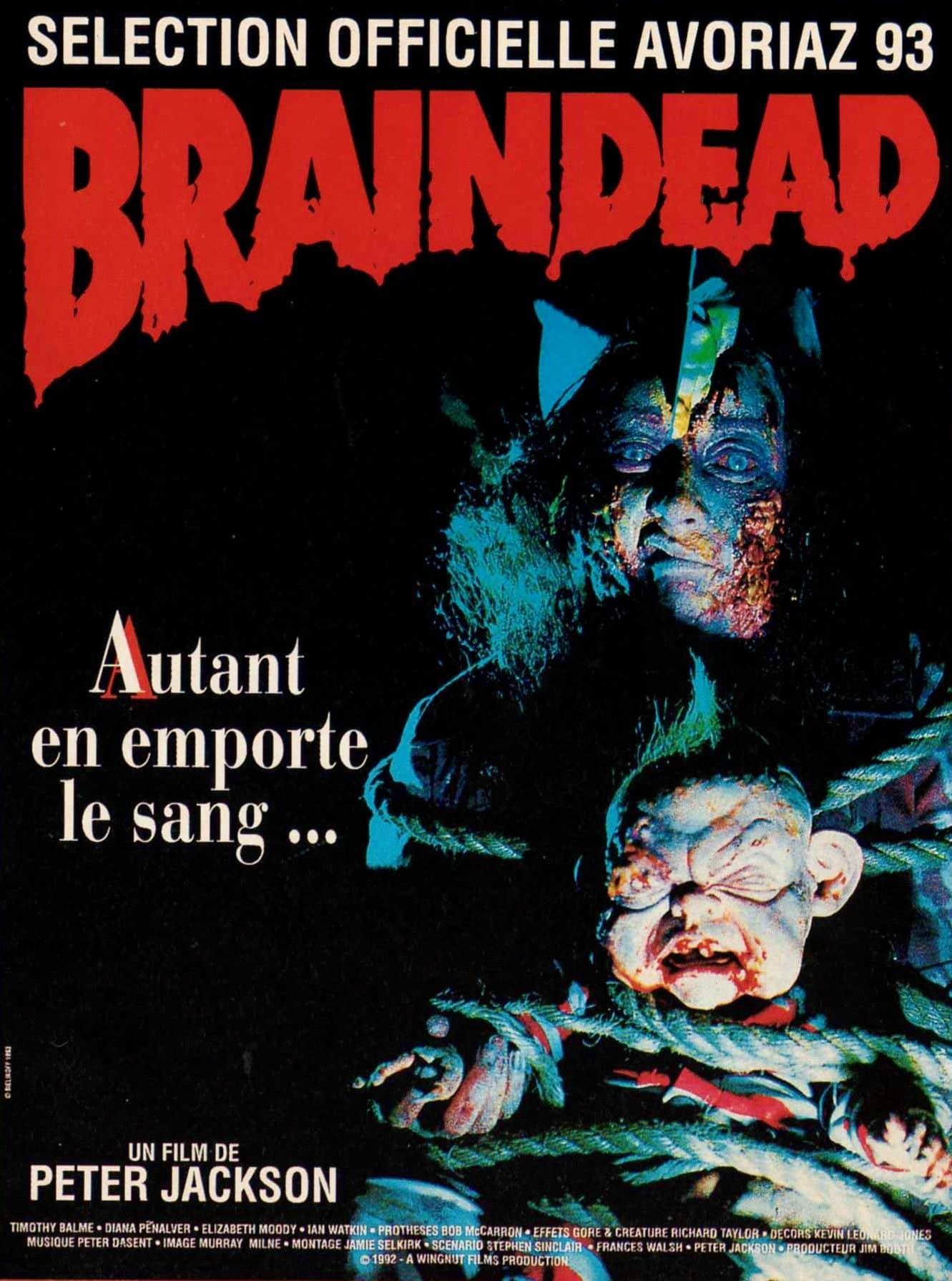 Film long-métrage jacksion braindead mort-vivant gore
