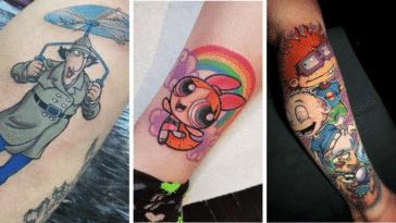 dessins animés enfance nostalgie tatouages