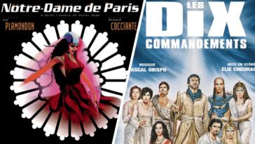 montage Comédies spectacles musicales françaises années 2000 notre-dame de paris les dix commandements singles musique