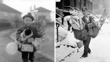photos Noël autrefois avant anciennes vintages vieilles historiques