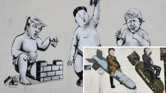 street art Donald Trump
