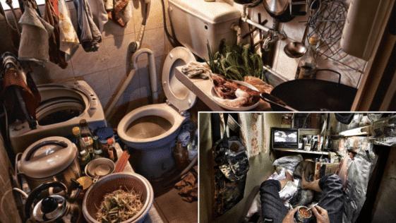 maisons-cercueils Hong Kong photos habitats logements pauvreté ville insalubres