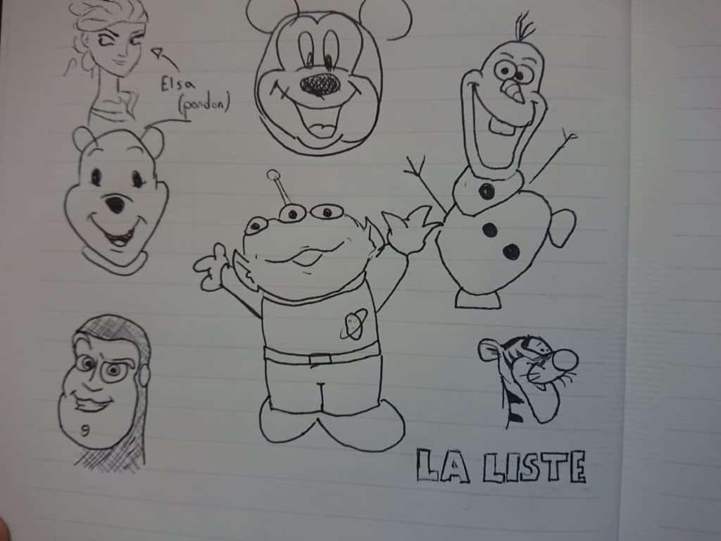 tutos dessins faciles personnages héros Disney