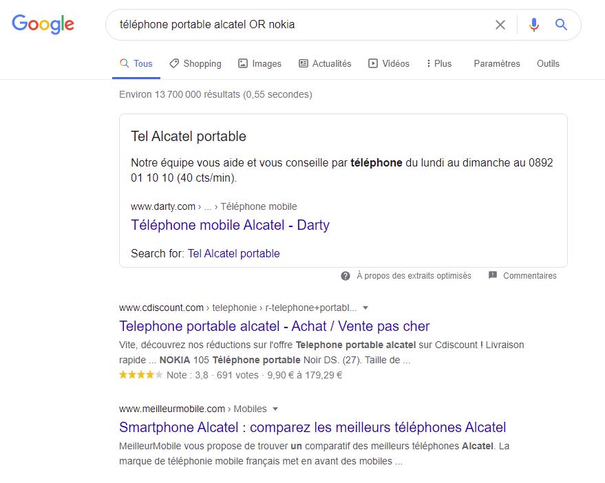 Recherches Google Astuces