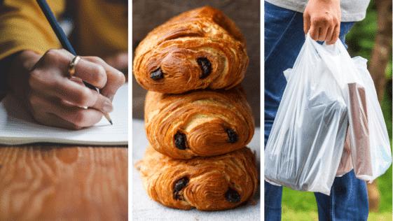 différences linguistiques europe francophone cartes pain au chocolat chocolatine poche crayon papier sac