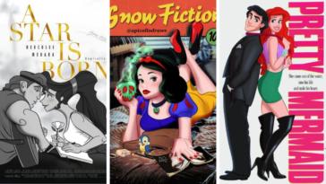 affiches de films revisitées héros Disney détournement