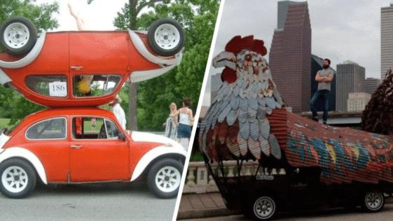 carrosseries insolites folles déjantées Houston Car Art Festival Etats-Unis