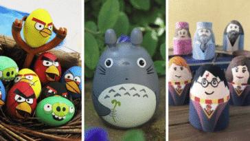 œufs pâques geeks pop culture chasse enfants décorations