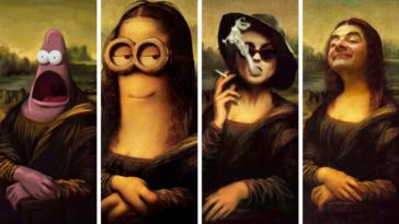 Joconde la versions revisitées déjantés sourire Mona Lisa