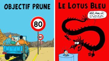 Tintin albums parodiés détournés B.D. couvertures