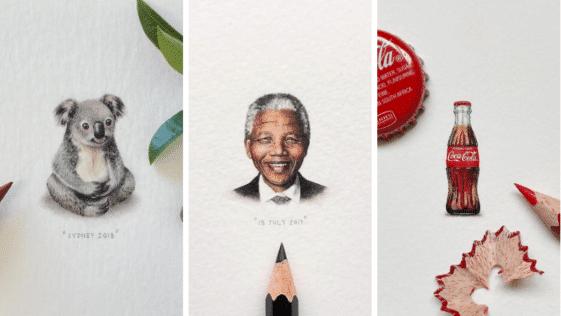 oeuvres d'art peintures aquarelle miniatures petites minuscules lilliputiennes