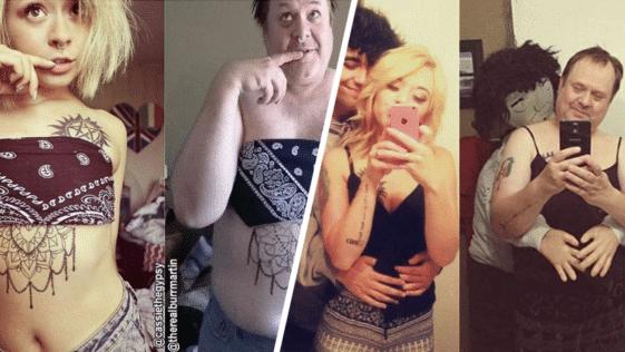 papa père fille enfant Instagram réseaux sociaux photos clichés parodie
