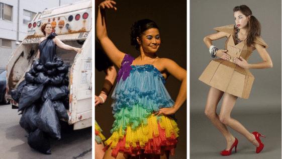 robes insolites matériaux recyclés déjantées loufoques