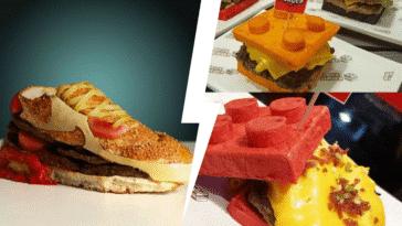 burgers insolites bizarres étranges cheeseburger hamburger cuisines