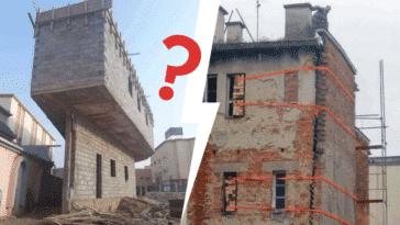 habitations immeubles dangereuses insolites maisons