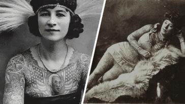 histoire femmes tatouées tatouages photos vintages