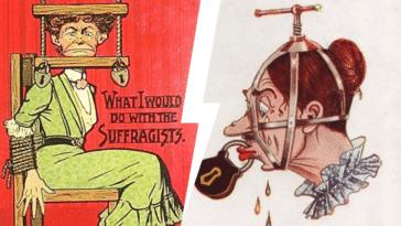suffragettes droit de vote femme affiches cartes postales dessins propagande