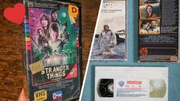 VHS films récents vidéos cassettes nostalgie