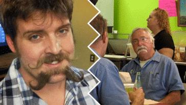 double moustache barbe pilosité mode tendance