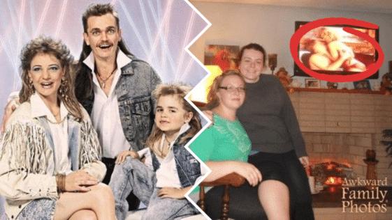 photos famille malaisantes clichés