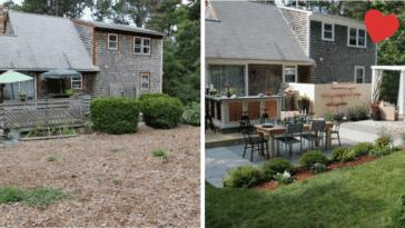 terrasses rénovées avant/après
