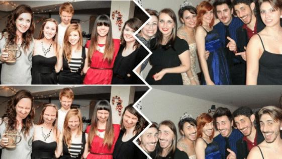 grimaces soirée photos fêtes photobomb face swaps