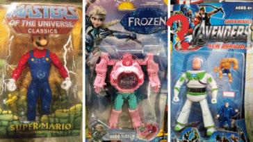 jouets emballages contrefaits enfants