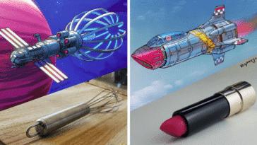 objets du quotidien vaisseaux spatiaux