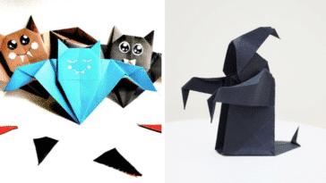 origamis halloween difficiles faciles débutants experts